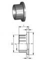 Втулка клапана тип 546 PP-H (G30) с раструбом для сварки, метрический