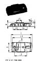 Трёхходовой шаровой кран тип 343, PVC-UГоризонтальный/ Шар с L-образным отверстием С резьбовыми раструбами,