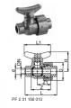 Лабораторный сливной шаровой кран тип 322, PVC-UС раструбом для клеевого соединения, метрическим