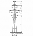 Промежуточные опоры П220-2 , П220-2т , П220-2т+5 , П220-2+5 , ПС220-2,  ПС220-2т линий электропередач напряжением 220 кВ линий электропередач с цинковым покрытием и без покрытия