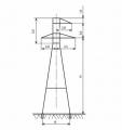 Анкерно-угловые опоры У35-1 , У35-1+5, У35-1т, У35-1+5т, У35-2, У35-2+5, У35-2т, У35-2+5т, У35-3, У35-3+5, У35-3+9, У35-4, У35-4+9 линий электропередач напряжением 35 кВ с цинковым покрытием и без покрытия