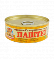 "Pate ""Prague with butter "" Sto Pudov 100g, tin can, key"