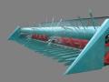 Kolza, ayçiçekleri toplaması için mekanizmalar