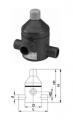 Клапан сброса давления тип V 85, PVC-UС патрубками для клеевого соединения