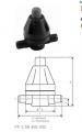 Клапан поддержания давления тип V 186, PVC-UС патрубками для клеевого соединения