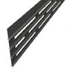 Доска для ограждения Megawood Compact Fix (basaltgrey) с прямоугольными отверстиями