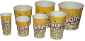 Упаковка (стаканы) для розничных продаж попкорна