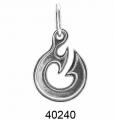 Амулет `Лови удачу` из серебра Ag 925° пробы, артикул 40240