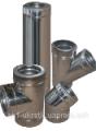 Дымоход двустенный d=100/160 мм из нержавеющей стали 1 мм в оцинкованном кожухе