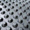 Шиповидная мембрана Изостуд 400 г/м2 для защиты стен фундаментов, гидроизоляции, дренажа