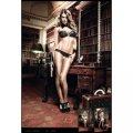 Трусики Champagne Panties With Black Lace, S/M B880-CHAMPAGNE-S/M