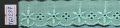 Прошва голубая, бирюзовая 2,8 см .  Арт. T61287