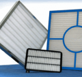 Corrugated air filter 592x287x48