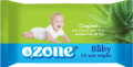 Салфетки влажные для детей с экстрактом алоэ вера TM Ozone, Влажные детские салфетки, опт