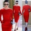 Красное платье карандаш