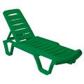 "Шезлонг, лежак ""Бриз"" пластиковый, зеленый"