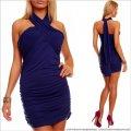UTCG Синее платье через шею 152675