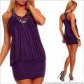 UTCG Фиолетовое платье с камнями 152654