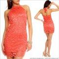 UTCG Кружевное платье кораллового цвета 152592