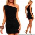 UTCG Платье на одно плечо черное 152580