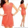 UTCG Кружевное платье коралловое 152579