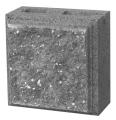 Блок половинка рвана коричнева