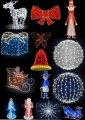 Объемные светящиеся светодиодные фигуры 3D