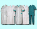 The clothes are medical, suits, dressing gowns