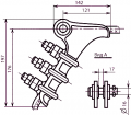 Clips bolted NB-2-6