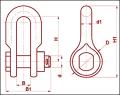 Скоба с цепным шарниром СК-12-1А