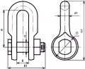 Скоба с цепным шарниром СКД-12-1