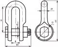 Скоба с цепным шарниром СКД-21-1