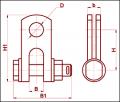 Скоба трехлапчатая СКТ-7-1