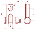 Скоба трехлапчатая СКТ-12-1