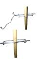 Скоби кріпильні для кріплення шпалерного дроту