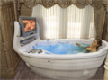 Hydromassage bathtub of S-280 T-REM CP-LE