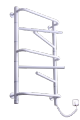 The electric heated towel rail of Eln 7 white with shelves