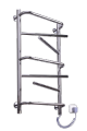 The electric heated towel rail of Eln 9 NZh with shelves