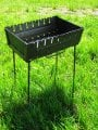 Brazier figurative on 8 skewers, a brazier suitcase, braziers for picnic