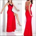 Длинное вечернее выпускное платье красное