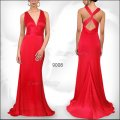 Красное вечернее макси платье со шлейфом
