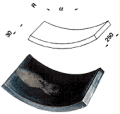 Плитки радиальные стандартного профиля для коллекторов