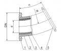 Изогнутые трубы с базальтовым наполнителем
