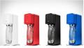 Сифон для приготовления газированных напитков Source с пластиковой бутылкой c металлическим дном Синий