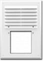 Вентиляционная решетка - 240x180 мм с фланцем квадрат 90 мм