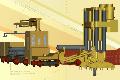Комбайн 2КВ-А для проведения вертикальных и наклонных восстающих выработок по породам с пределом прочности sсж. не более 210 МПа в шахтах не опасных по газу и пыли.