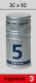 Aluminum screw cap for alcoholic beverage production 30х60
