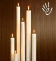 Свечи столовые белые