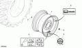 Диск колеса AXE10350, комбайн JD670STS