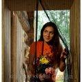 Антимоскитная сетка штора на магнитах дверная коричневый